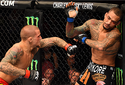 Dustin Poirier and Yancy Medeiros